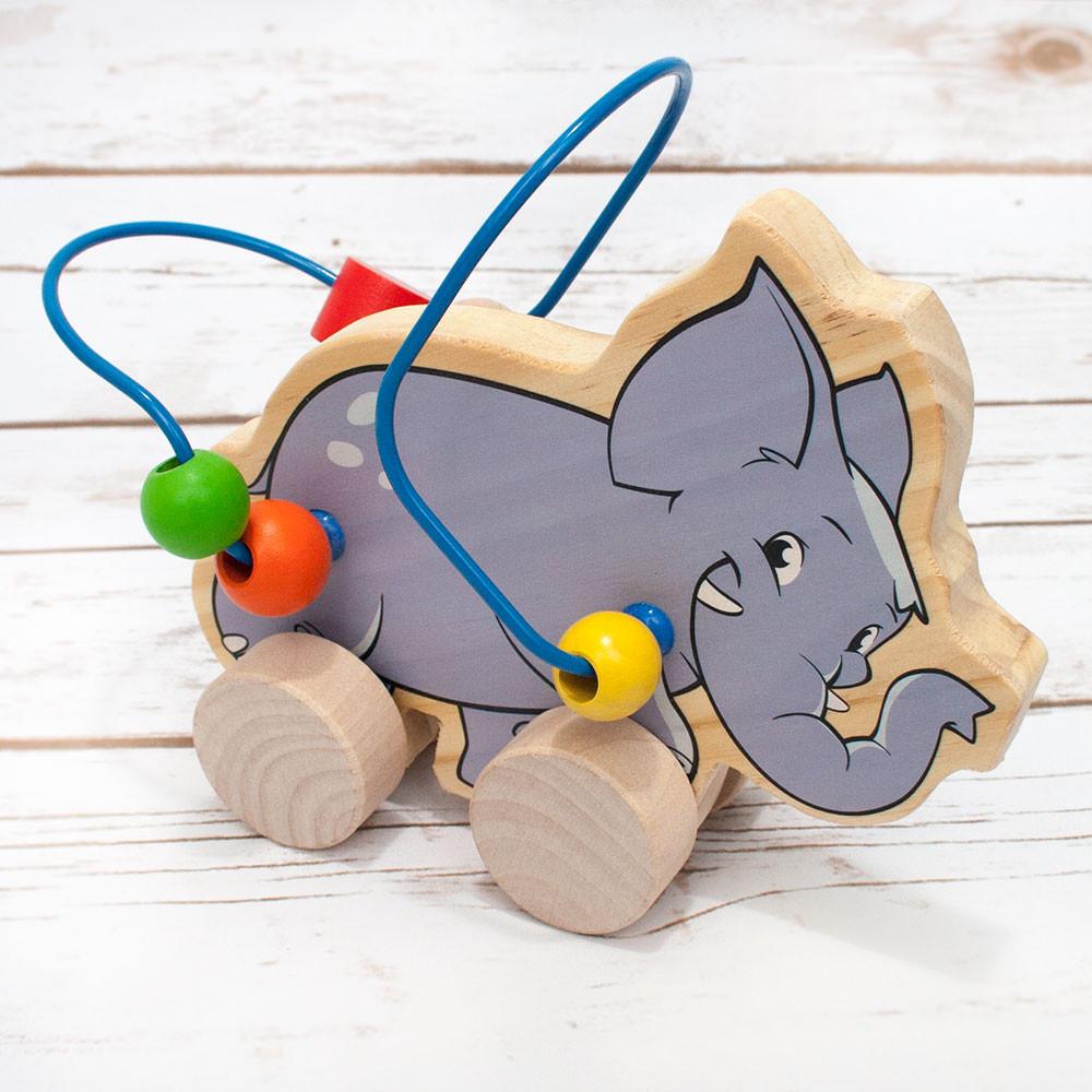 Wooden Maze Elephant Rolling Toy