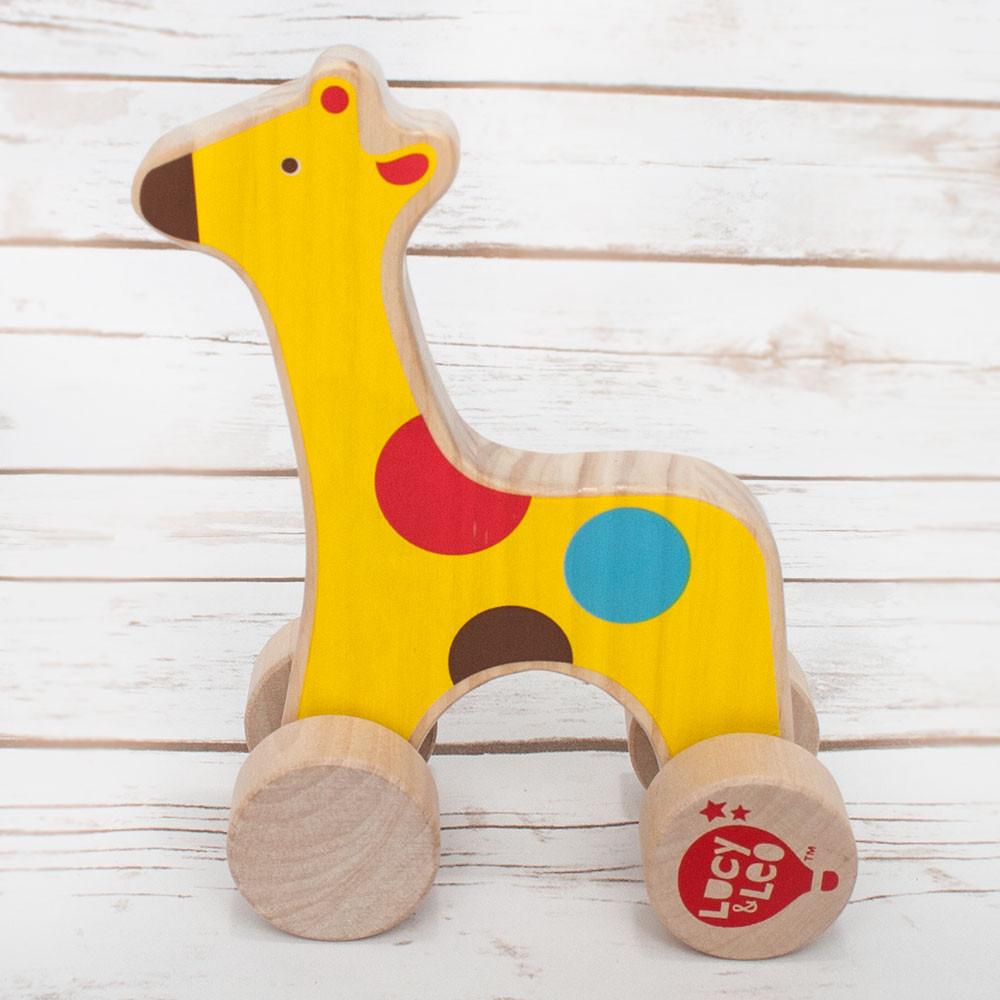 Wooden Giraffe Rolling Toy